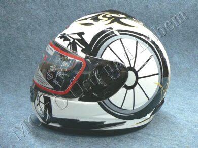 Full-face Helmet FF2 - white bike ( Motowell )(890151M)