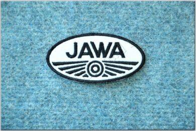 patch JAWA white-black (85 x 42 mm)(930005)