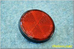Rear reflector round w/ bolt - red / black, 59mm (UNI)