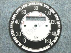 ciferník tachometru 160 km ( Jawa 500 OHC 02 )