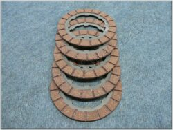Disk, clutch friction, set 5pcs ( Perak,Kyvacka )