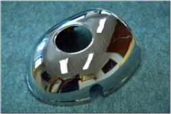 Headlight casing upper ( Kývačka with ampermeter) chrom