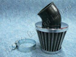 Air filter racing  D32 - 45°, intake ( UNI,Jawa,ČZ ) cone big
