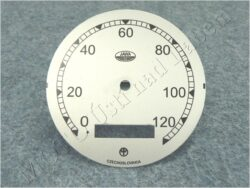 Dial, Speedometer 120km ( Pérák FJ ) / D=77mm