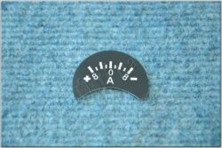 ammeter label - plus left 8A ( Pér, Kýv ) design A