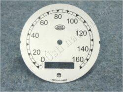 ciferník tachometru 160 km ( Jawa 500 OHC 01 ) Jawa-ČZ