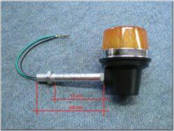 Turn signal light, round, rod 100mm ( Jawa 638 )(080482)