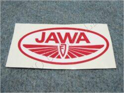 Sticker JAWA FJ - red-white 100x50
