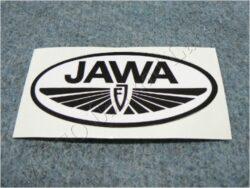 Sticker JAWA FJ - black-white 100x50