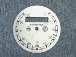 ciferník tachometru 100 km ( ČZ B,T,C ) PAL-ČZ