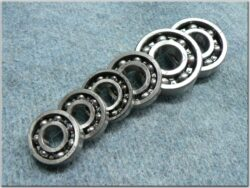 Engine bearings - set 6pcs. ( ČZ 125,150 C )