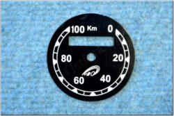 Dial, Speedometer 100km ( ČZ B,T,C ) VDO / km