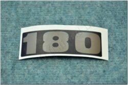 Sticker  - silvery ( ČZ 180 )
