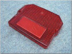 kryt zadní lampy - hranatý červený ( MZ, Sim-SR )