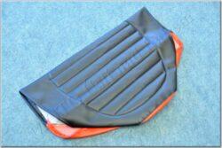 Seat cover, black-red ( Simson-SR )
