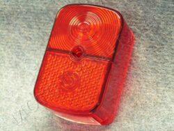 kryt zadní lampy - hranatý červený ( Star )