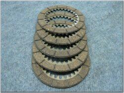 Disk, clutch friction , set 5pcs ( ETZ 250 )