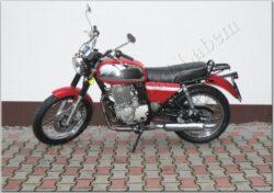 motocykl Jawa 350 OHC/ 845 - červený