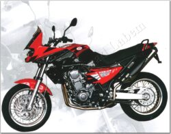 motocykl Jawa 660 Sportard Adenium - červený
