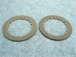 Disk, clutch friction, set 2pcs ( moto.China )
