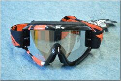 Motorcycle Goggle Zone RS - black/orange ( FLY RACING )