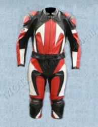 Motorcycle suit  B4046, white-red-black ( BEL ) Size XXL