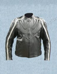 Jacket B4050, black / silvery stripe ( BEL )