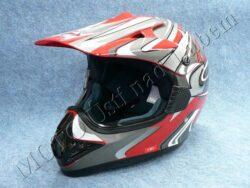 Motocross Helmet CR2 - streamline red ( Motowell )(890031M)