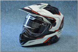 Enduro Helmet Tour - black/white/red ( CASSIDA )