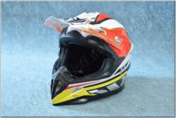 Cross Helmet X1.9 - White/black/red/yellow ( ZED ) Size XS