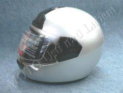 Full-face Helmet FF1 - silver ( Motowell )