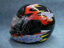 Full-face Helmet FF1 - volcano black ( Motowell )