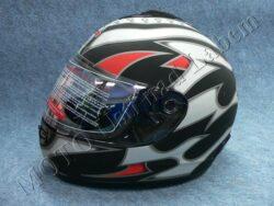 Full-face Helmet FF2 - embers black ( Motowell )