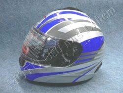 Full-face Helmet FF2 - future silver ( Motowell )