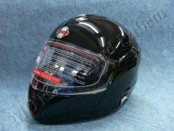 Flip-Up Helmet FU3B - black, bluetooth ( Motowell )(890216M)