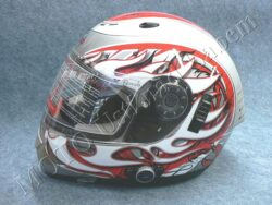 Helmet FF7 - blaze red, bluetooth ( Motowell ) Size M