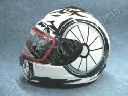 Full-face Helmet FF2 - white bike ( Motowell )