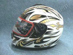 Full-face Helmet FF3 - gold flower ( Motowell )