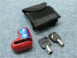 Brake disc lock RMS - red, small ( UNI )