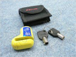 Brake disc lock RMS - yellow, small ( UNI )