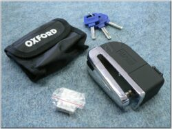 Brake disc lock w/ alarm - black/chrome ( OXFORD )