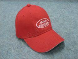 čepice s kšiltem - logo JAWA - červená