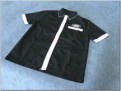 košile černo-bílá s logem JAWA