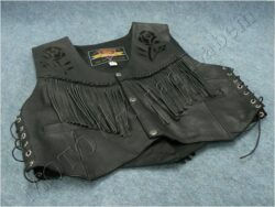 Leather vest HEROS black - Size 46