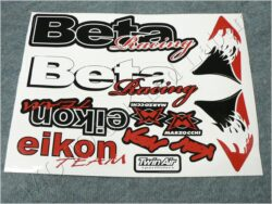 Stickers sheet BETA - red-black-white