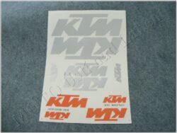 Stickers sheet KTM - orange-silvery