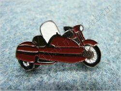 Pin badge motorcycle w/ sidecar