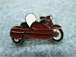 Pin badge motorcycle w/ sidecar