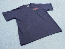 T-shirt blue w/ picture Jawa Pionyr 21