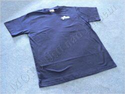 T-shirt blue w/ picture ČZ scooter, Size L